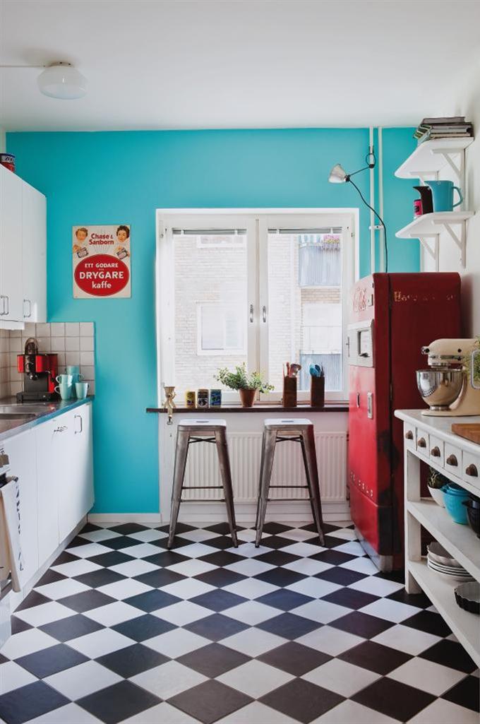 Cozinha da vovo a casa que a minha v queria Pintar un piso de blanco