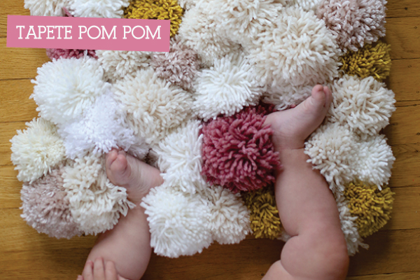 d9ef93064605b Faça um tapete com pompons de lã - A casa que a minha vó queria