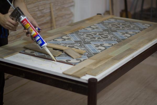 Ideia para reformar uma mesa velha a casa que a minha v - Mesa de centro lack ...