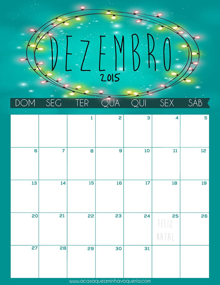 Download Calendário Dezembro 2015