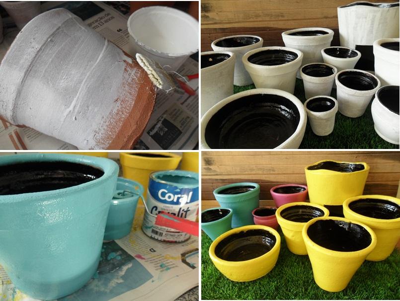 Como impermeabilizar vasos de barro cer mica a casa que for Como pintar jarrones de ceramica